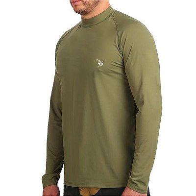 Camiseta Fishing co. Básica ML Verde Militar