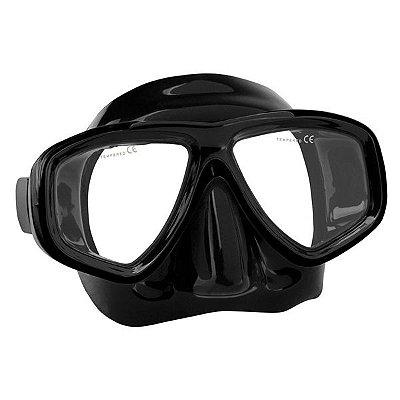 Máscara p/ Mergulho SeaSub Silicone Splenda III - Preta/Preta