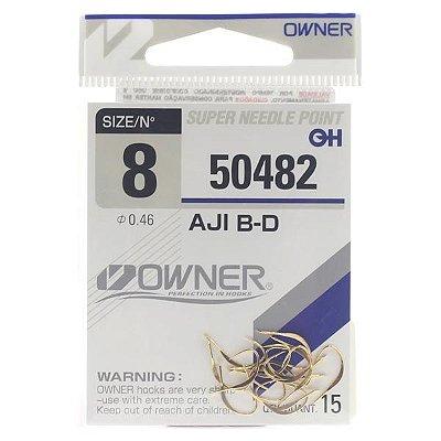 Anzol Owner 50482 Aji B-D Gold (Sem Olhal)