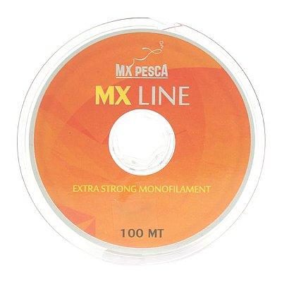 Linha MX Line 100m Vermelha - 0.35mm
