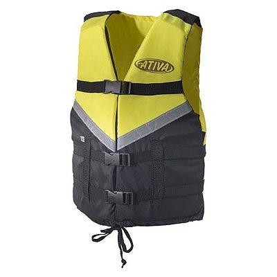 Colete Náutico Ativa Canoa 2.0 120kg - Amarelo