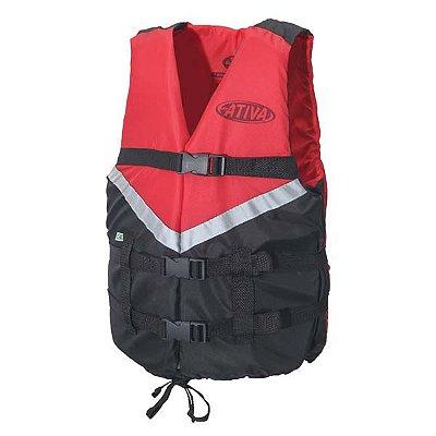 Colete Náutico Ativa Canoa 2.0 80kg - Vermelho