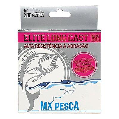 Linha MX Pesca Elite Long Cast 300m 0.45mm - Rosa