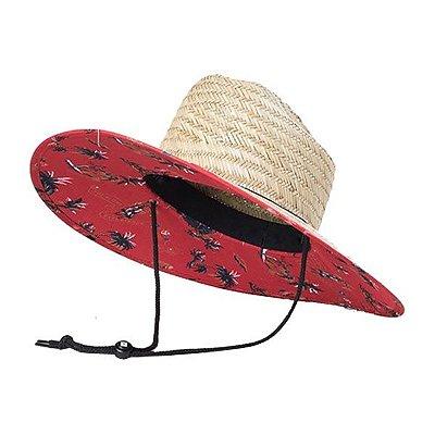Chapéu de Palha com Forro Estampado