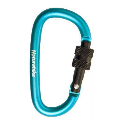 Mini Mosquetão Chaveiro Naturehike Screw 6cm - Azul