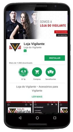 App Loja do Vigilante