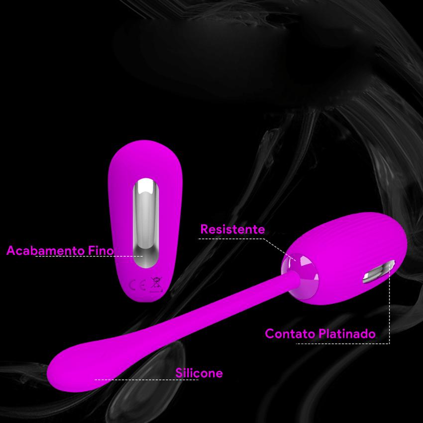 O Pretty Love Shock Fun é vibrador recarregável que possui 7 modos de vibrações e 5 funções de choques elétricos, compõe a categoria de vibradores bullets. Além disso, contém uma alça de segurança que recebe os sinais do controle.