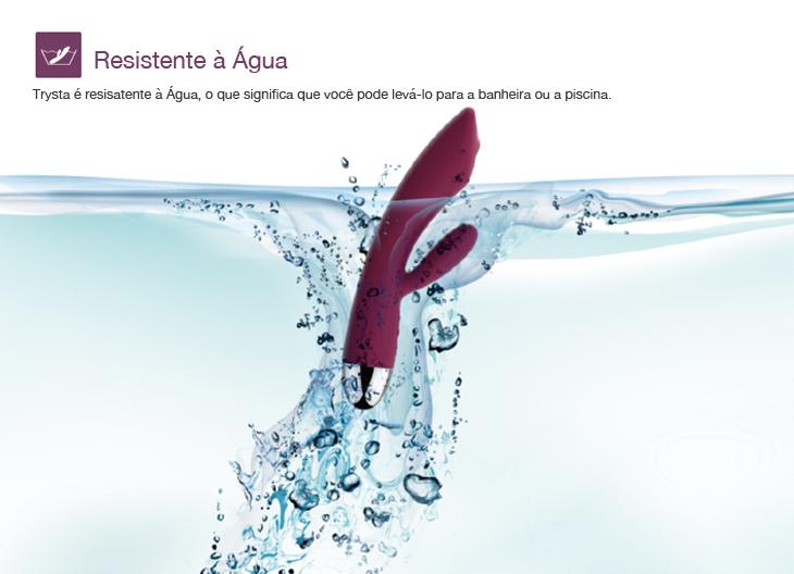 Vibrador Trysta Red - Svakom com Estimulador Clitoriano e Rolamento para Ponto G