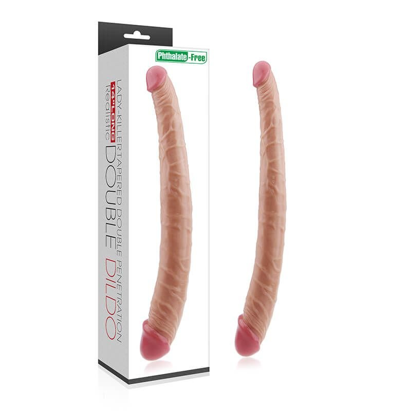 Capa do Realistic Double Dildo Pênis de Borracha Duplo