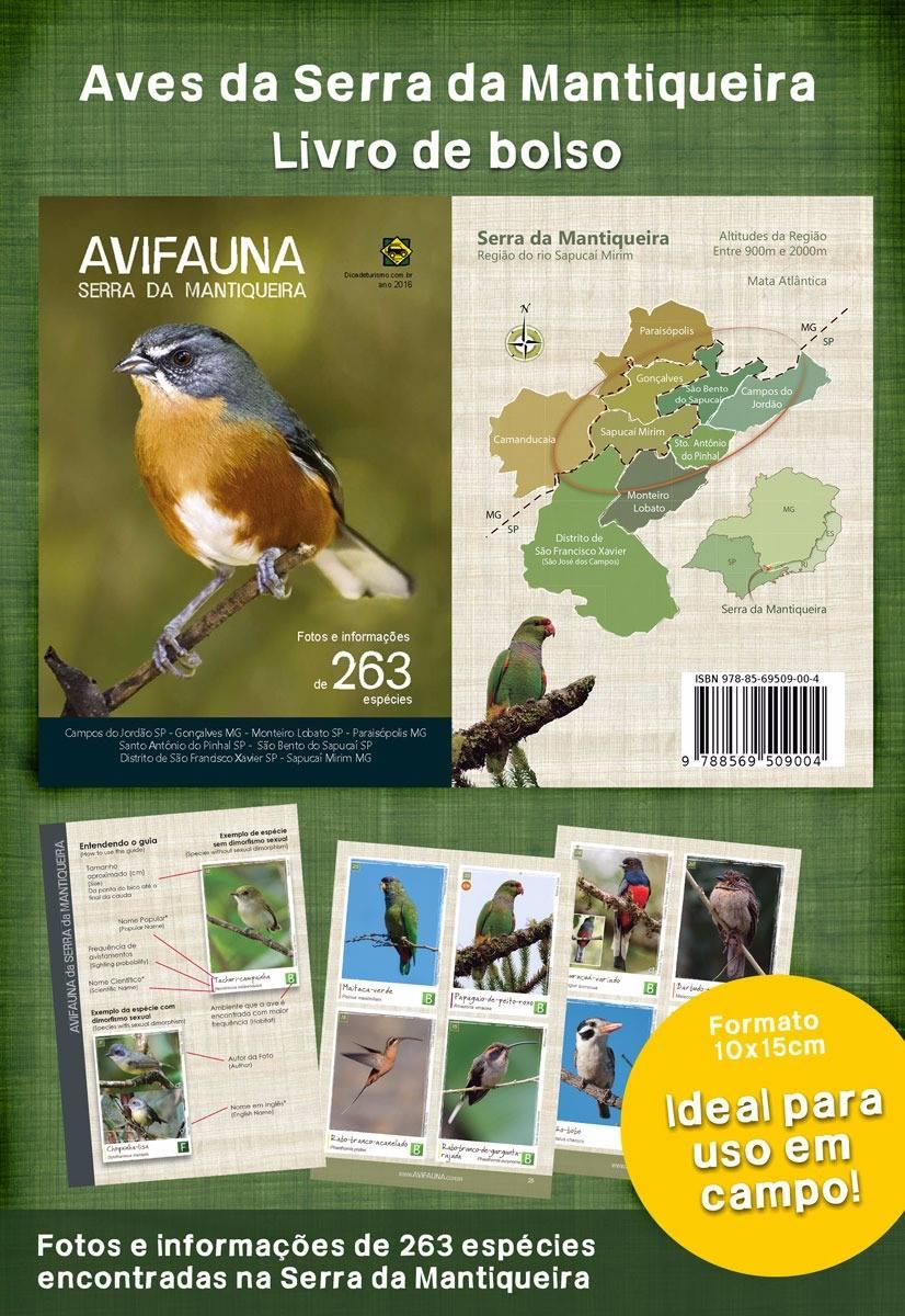 Adquira já o seu Guia de Campo Aves da Serra da Mantiqueira! Disponível na Maritaca Store.
