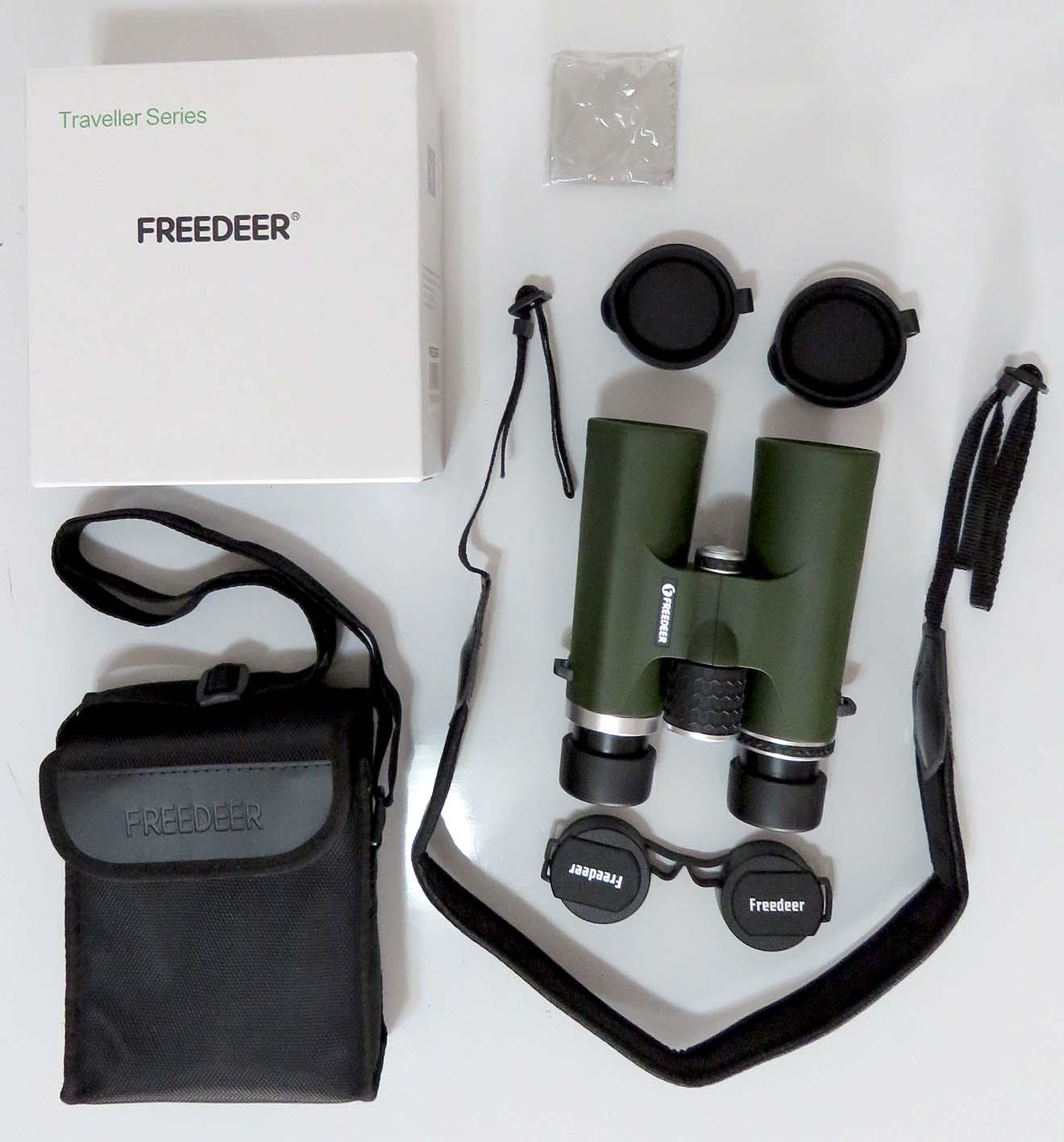 A linha Treveler Series 8x42 da Freeder apresenta binóculos compactos com boa luminosidade, sendo indicado para diversas atividades ao ar livre, como observação de aves, viagens e atividades esportivas. Disponível na Maritaca Store.