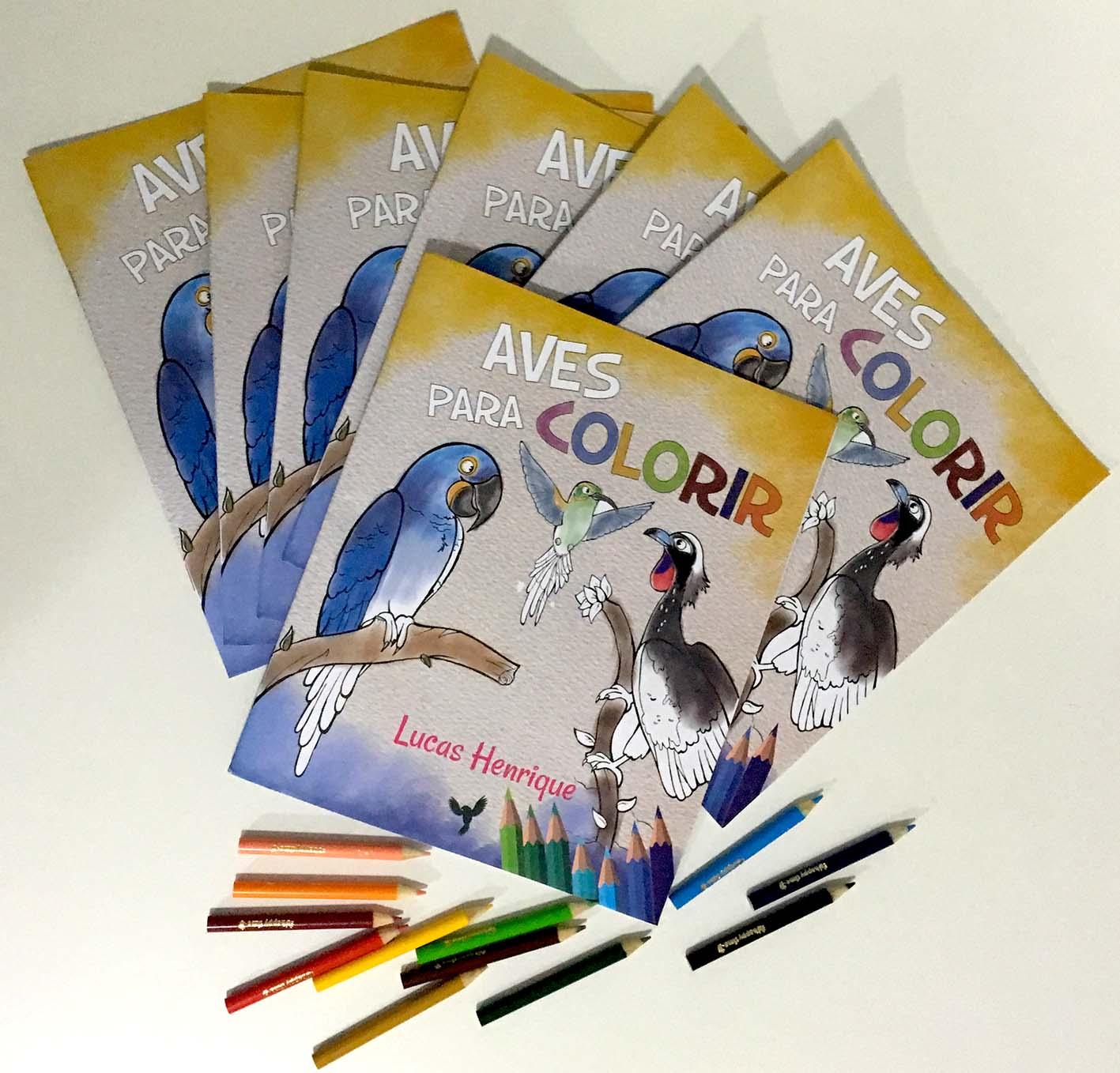 Um livro de colorir feito com as belas ilustrações de Lucas Henrique, um jovem e talentoso carioca que tem uma leitura personalizada sobre as aves brasileiras. Disponível na Maritaca Store.