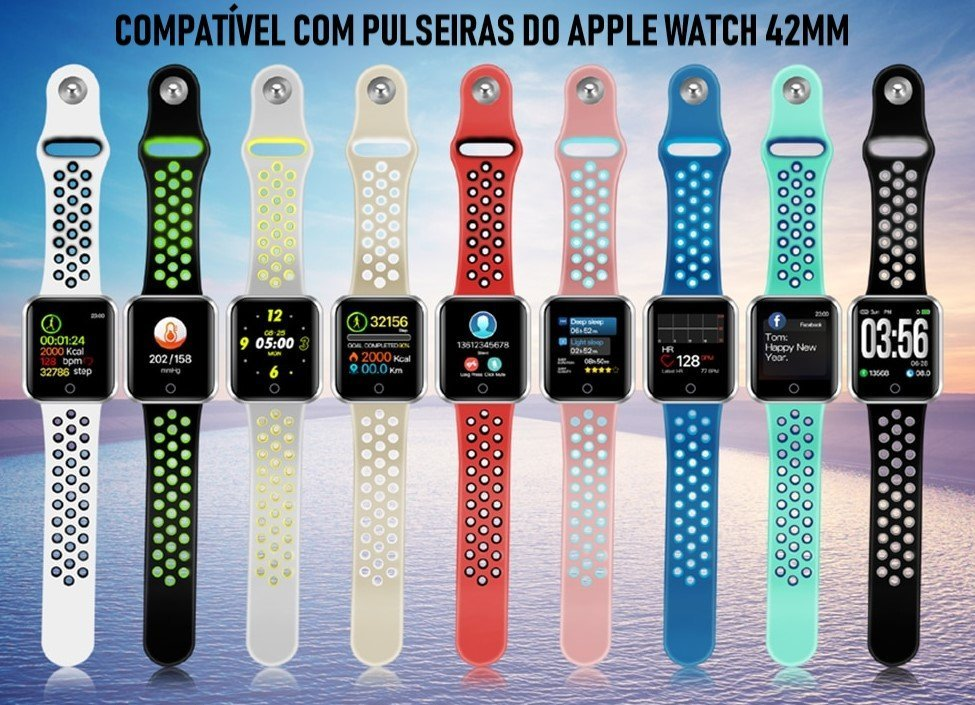 9fde53fbe3a Relógio Eletrônico OLED Pró Série 2 - 42mm - Smartwatch - Dali ...