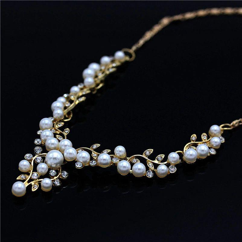 0173ddaf203dbe ... Conjunto semi jóias colar de Perolas - Imagem 4