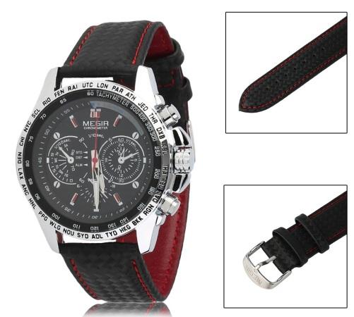 5d72f504157 Produtos relacionados. Relogio Megir RANGERS Esportivo Luxo Executivo com  Cronografo e Prova D Agua