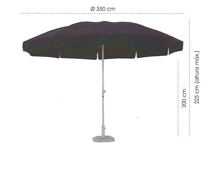 especificações ombrellone almeria