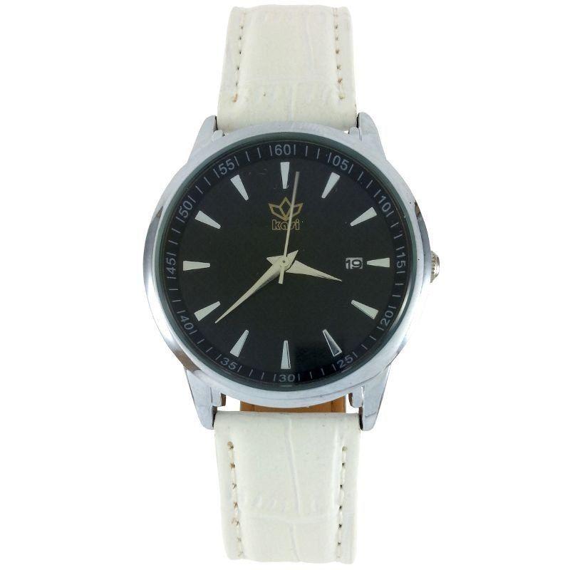 fb086e391af Relógio Analógico Kasi Branco - ShopDesconto - Aqui você sempre tem ...