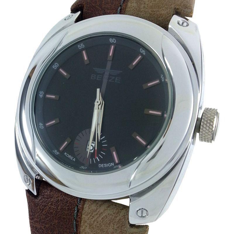 9af6c54f061 Relógio Analógico Social Berze BT169M Marrom e Caqui - ShopDesconto ...
