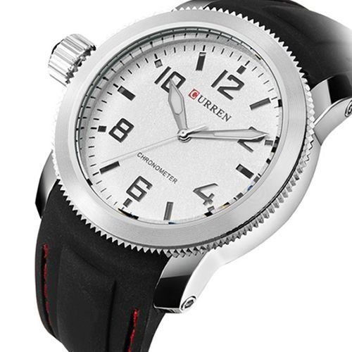 20db2e2aeb5 Relógio Masculino Curren Analógico 8173 Preto e Prata - ShopDesconto ...