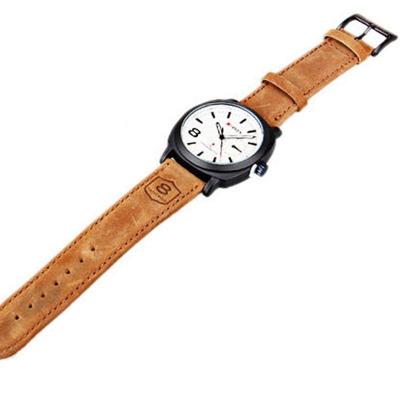 d27398113ea Relógio Masculino Curren Analógico Casual 8139 Branco - ShopDesconto ...