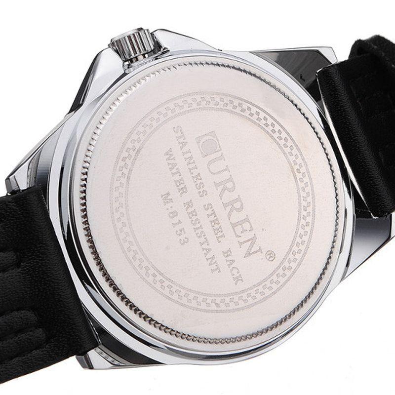 7922ddce1b5 Relógio Masculino Curren Analógico Casual 8153 Branco - ShopDesconto ...