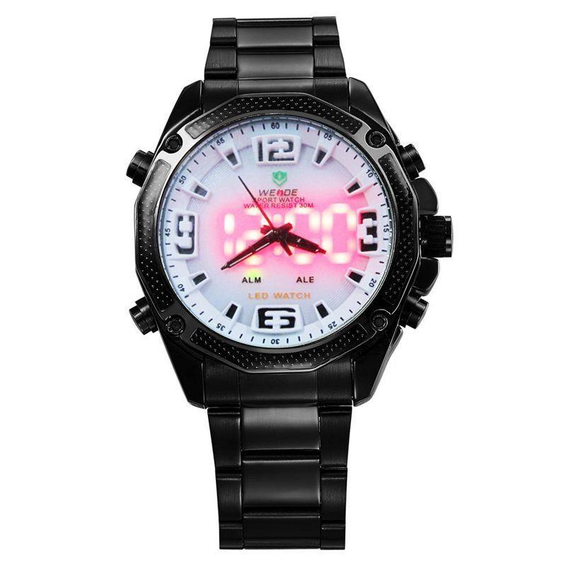3271e8e2a78 ... Relógio Masculino Weide AnaDigi Esporte WH-2306 Branco - Imagem 2