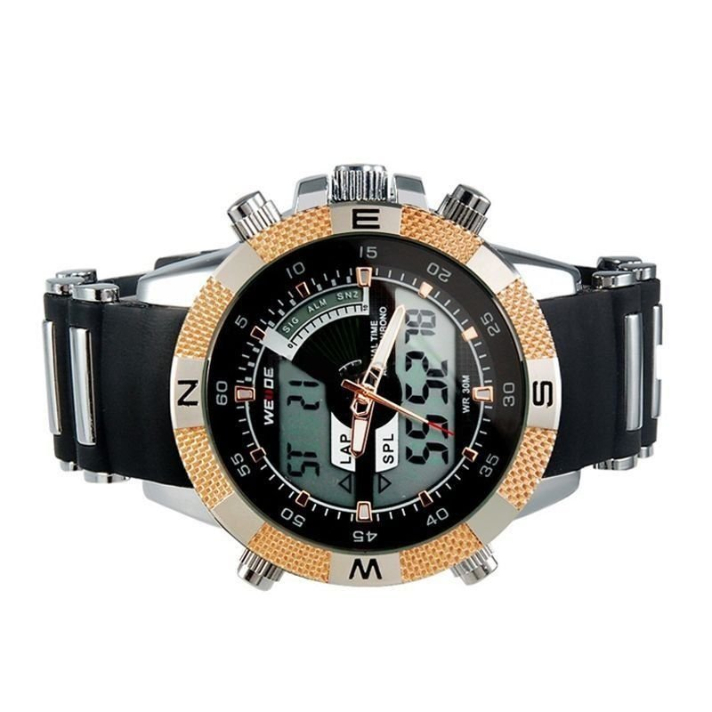 f5db15075e8 ... Relógio Masculino Weide AnaDigi Esporte WH-1104 Dourado - Imagem 2 ...