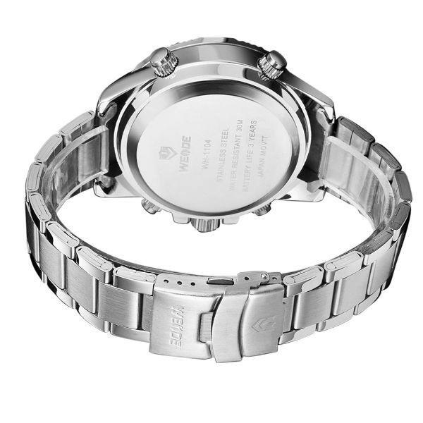 2e11b397d7e Relógio Masculino Weide Anadigi WH-1104 Branco - ShopDesconto - Aqui ...