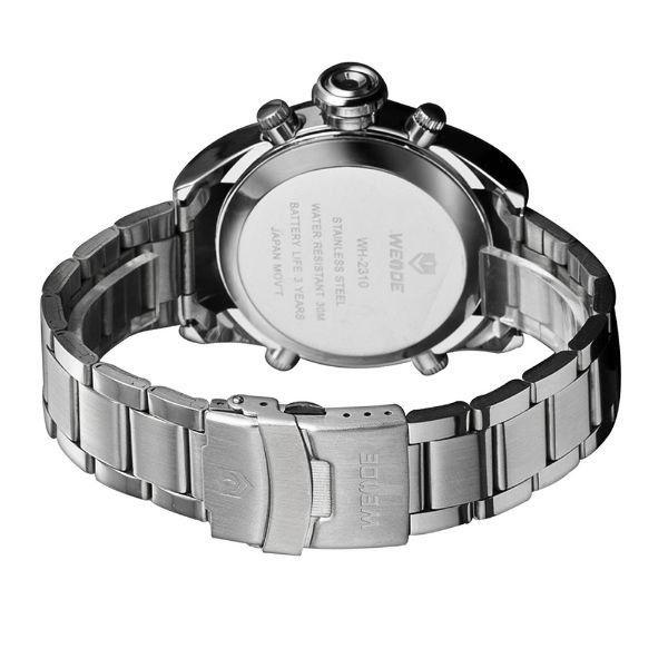 ... Relógio Masculino Weide Anadigi WH-2310 Prata e Branco - Imagem 3 cc92df7456a4e