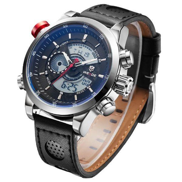 656a311e94a ... Relógio Masculino Weide Anadigi WH-3401-C Prata e Preto - Imagem 2 ...