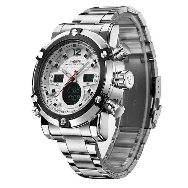 ... Relógio Masculino Weide Anadigi WH-5205 Prata e Branco - Imagem 2 ... 581897eefd797