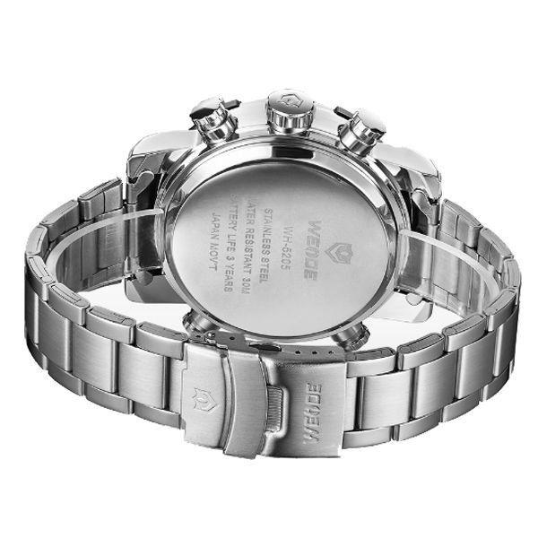 ... Relógio Masculino Weide Anadigi WH-5205 Prata e Branco - Imagem 3 6f0bd6911bfcc