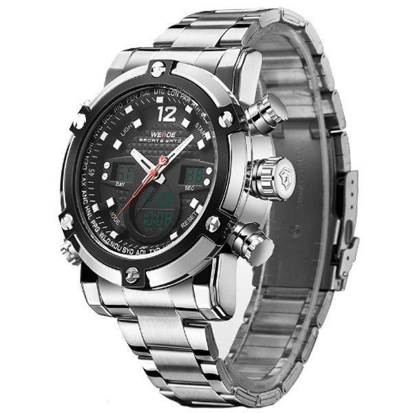 Relógio Masculino Weide Anadigi WH-5205 Prata e Preto - ShopDesconto ... 04d4230c9e046