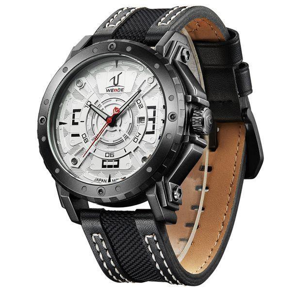 Relógio Masculino Weide Analógico UV-1601 Branco - ShopDesconto ... 15467aef07cce