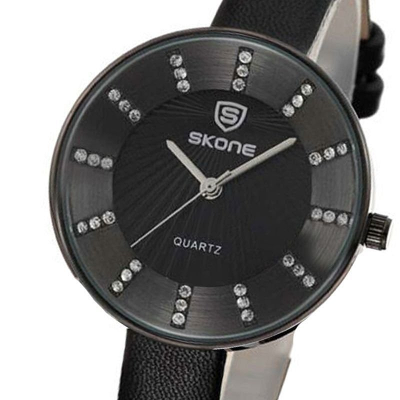 97038db6ae6 Relógio Feminino Skone Analógico Casual 9250 Preto - ShopDesconto ...