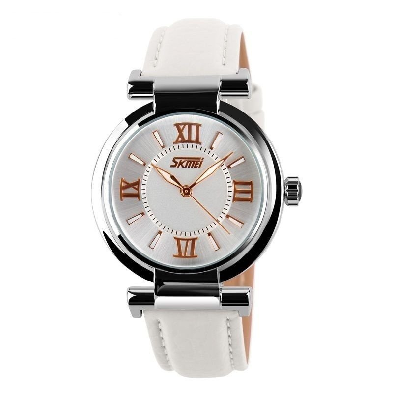 d1bd628f207 Relógio Feminino Skmei Analógico 9075 Branco - ShopDesconto - Aqui ...