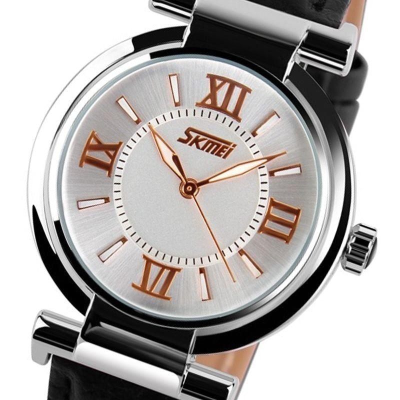 3d14ed47ab5 Relógio Feminino Skmei Analógico 9075 Preto - ShopDesconto - Aqui ...
