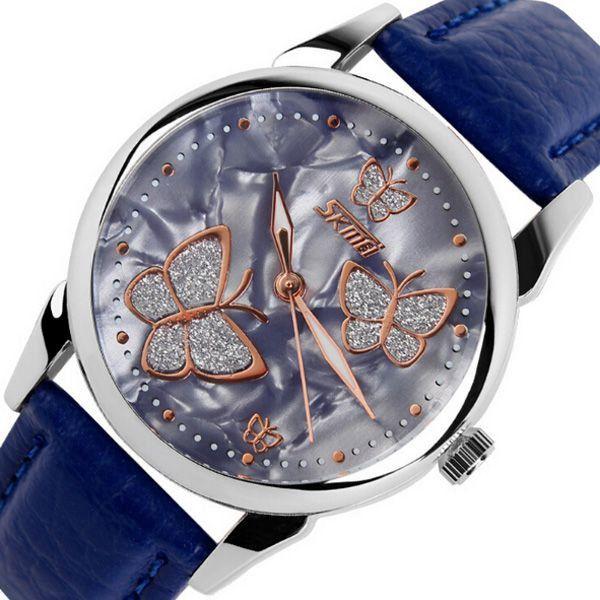 b1b40b8c51d Relógio Feminino Skmei Analógico 9079 Azul - ShopDesconto - Aqui ...