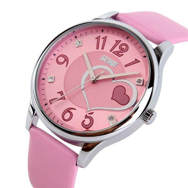 5c2a8f96ca1 Relógio Feminino Skmei Analógico 9085 Rosa - ShopDesconto - Aqui ...