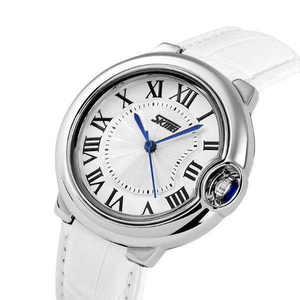 7c87a405696 Relógio Feminino Skmei Analógico 9088 Branco - ShopDesconto - Aqui ...