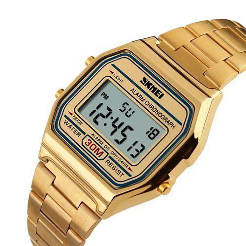 865853b20bd Relógio Skmei Digital 1123 Dourado - ShopDesconto - Aqui você sempre ...
