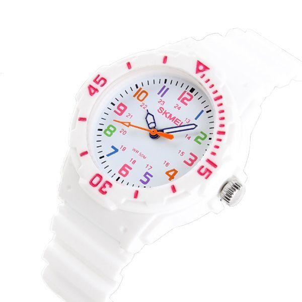 c7e96b3a3f4 Relógio Infantil Skmei Analógico 1043 Branco - ShopDesconto - Aqui ...