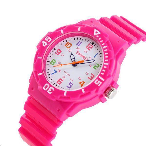 d95fdf6dfd5 Relógio Infantil Skmei Analógico 1043 Rosa - ShopDesconto - Aqui ...