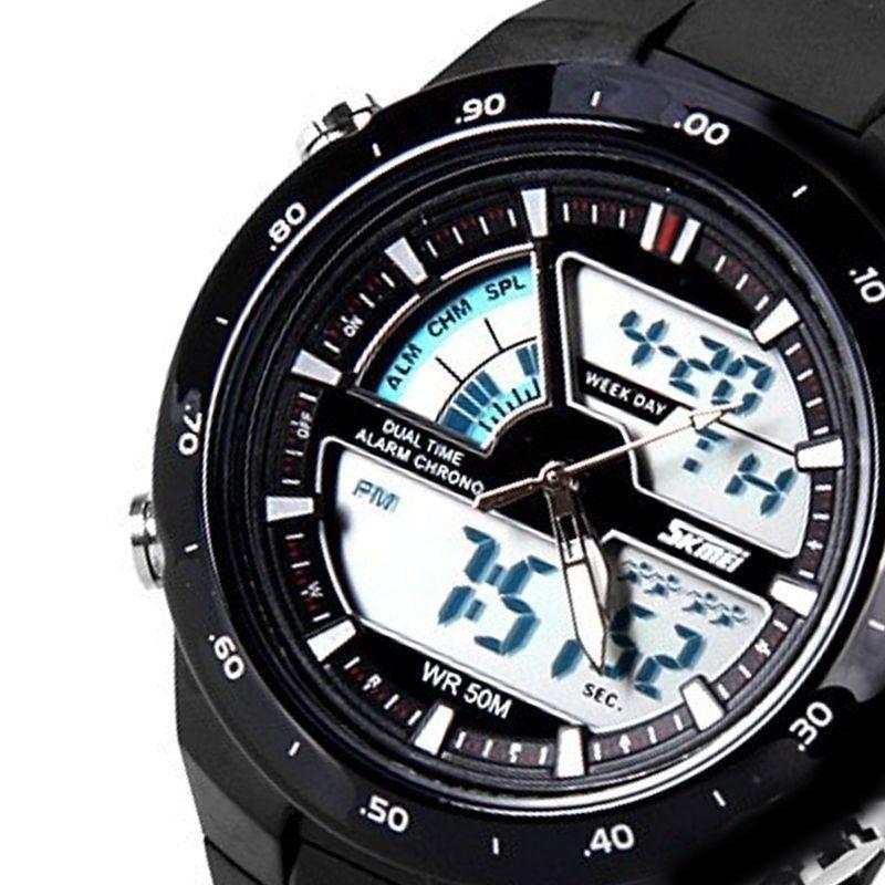 3d47faf4f9a Relógio Masculino Skmei Anadigi 1016 Preto - ShopDesconto - Aqui ...