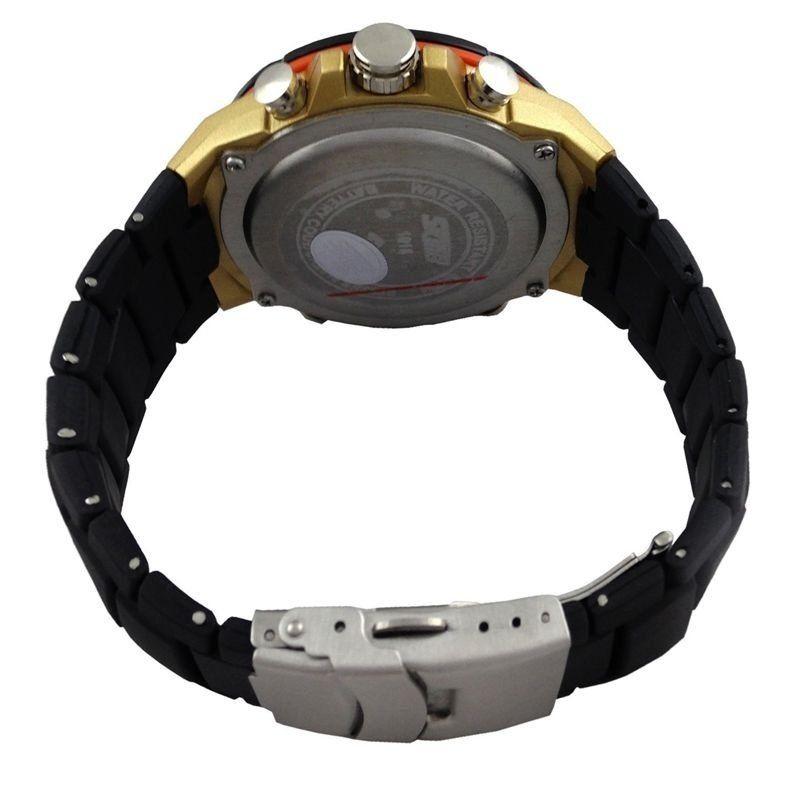 1cfd3016047 Relógio Skmei Anadigi 1016 Preto e Dourado - ShopDesconto - Aqui ...