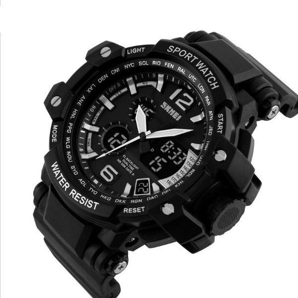 389576ea73c ... a4e07166344 Relógio Masculino Skmei Anadigi 1137 Preto e Branco -  ShopDesconto .