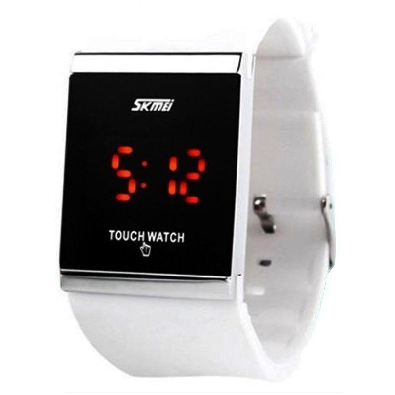01a6ad9fdbc Relógio Skmei Digital 0983 Branco - ShopDesconto - Aqui você sempre ...