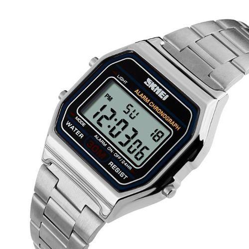 bba57b73a22 Relógio Masculino Skmei Digital 1123 Prata - ShopDesconto - Aqui ...