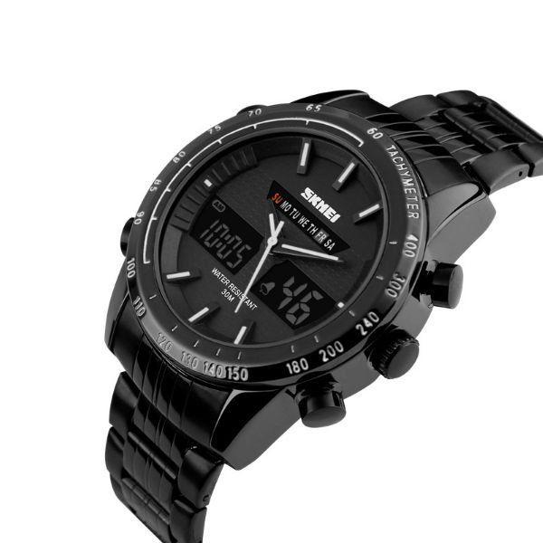 06afa14c37e Relógio Masculino Skmei Anadigi 1131 Branco - ShopDesconto - Aqui ...