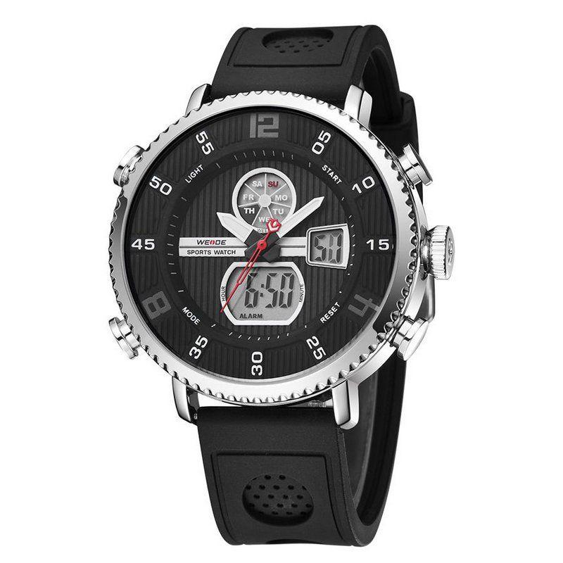 63f0282f25f Relógio Masculino Weide Anadigi WH6106 Preto e Prata - ShopDesconto ...
